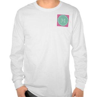 Monograma de la verde menta del modelo el de Che Camisetas