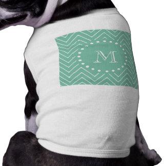 Monograma de la verde menta del modelo el   de Che Playera Sin Mangas Para Perro
