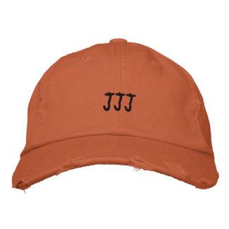 Monograma de las iniciales JJJ Gorra De Beisbol