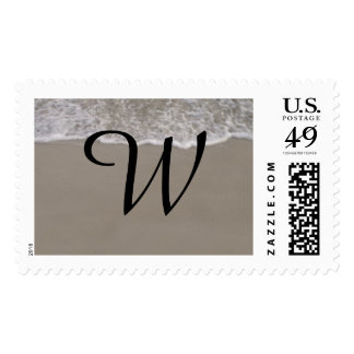 Monograma de las mareas del océano sello postal