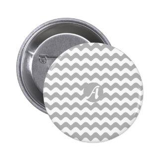 Monograma de las ondas del gris y del blanco