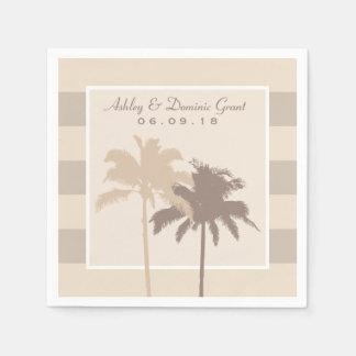 Monograma de las palmeras de las servilletas el | servilleta de papel