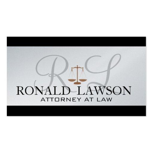 Monograma de las tarjetas de visita del abogado