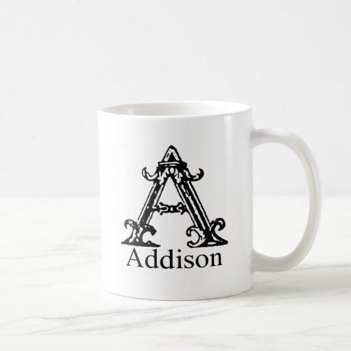 Monograma de lujo: Addison Taza