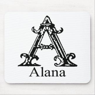 Monograma de lujo: Alana Alfombrillas De Raton