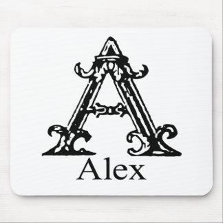 Monograma de lujo: Alex Mouse Pad