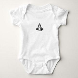 Monograma de lujo: Alexa Body Para Bebé