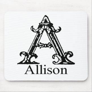 Monograma de lujo: Allison Alfombrillas De Raton