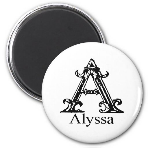Monograma de lujo: Alyssa Imán Para Frigorifico