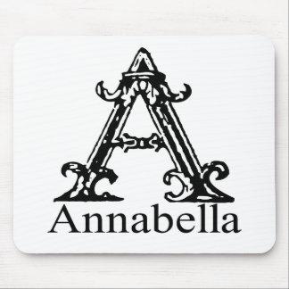Monograma de lujo: Annabella Tapete De Ratones