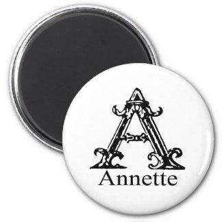 Monograma de lujo: Annette Imán Redondo 5 Cm
