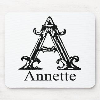 Monograma de lujo: Annette Tapete De Raton