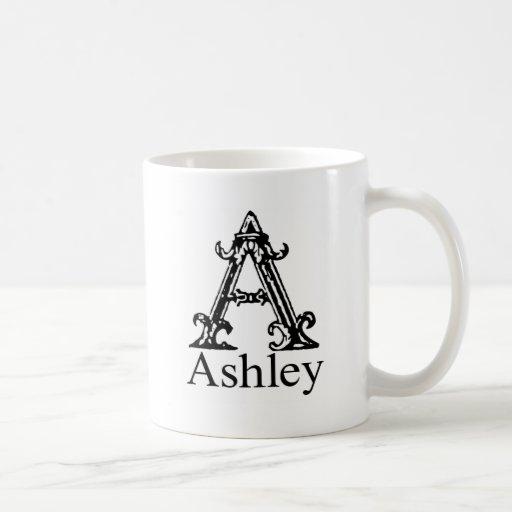 Monograma de lujo: Ashley Taza De Café