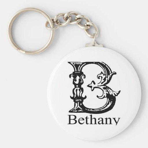 Monograma de lujo: Bethany Llaveros