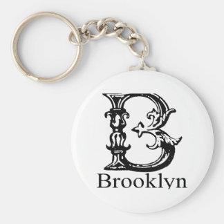 Monograma de lujo: Brooklyn Llaveros