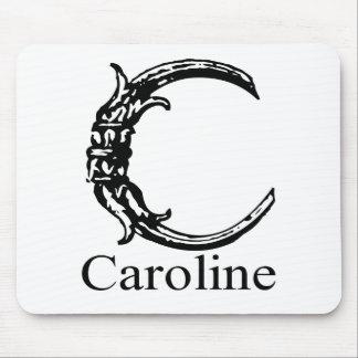 Monograma de lujo: Caroline Alfombrillas De Ratones
