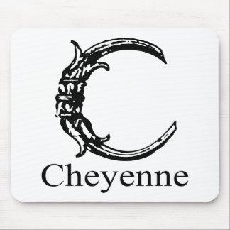 Monograma de lujo: Cheyenne Alfombrilla De Ratón