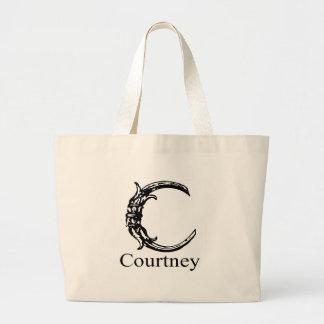 Monograma de lujo: Courtney Bolsas