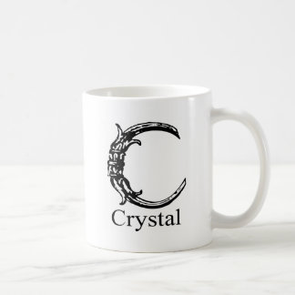 Monograma de lujo Cristal Taza