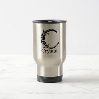 Monograma de lujo Cristal Tazas De Café