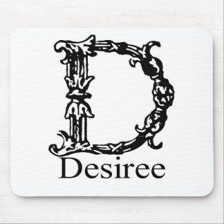 Monograma de lujo: Desiree Tapete De Ratones