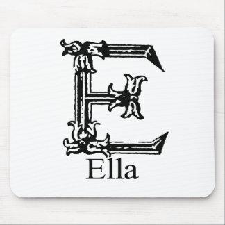 Monograma de lujo: Ella Alfombrilla De Ratón