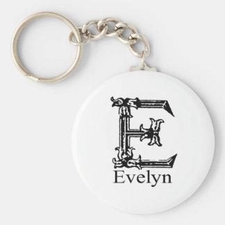 Monograma de lujo: Evelyn Llaveros Personalizados