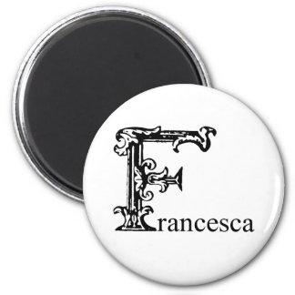 Monograma de lujo: Francisca Imán Redondo 5 Cm