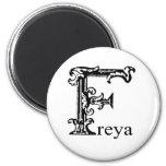 Monograma de lujo: Freya Imán De Nevera