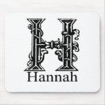 Monograma de lujo: Hannah Alfombrilla De Ratón