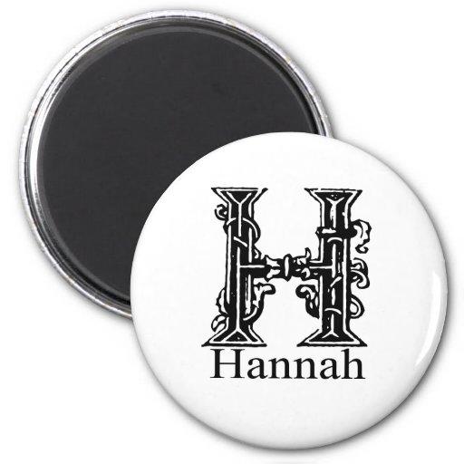 Monograma de lujo: Hannah Imán Redondo 5 Cm