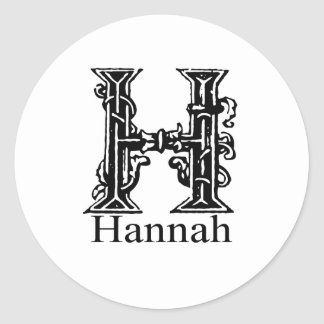 Monograma de lujo: Hannah Pegatinas Redondas