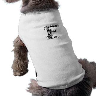 Monograma de lujo: Helecho Ropa Para Mascota