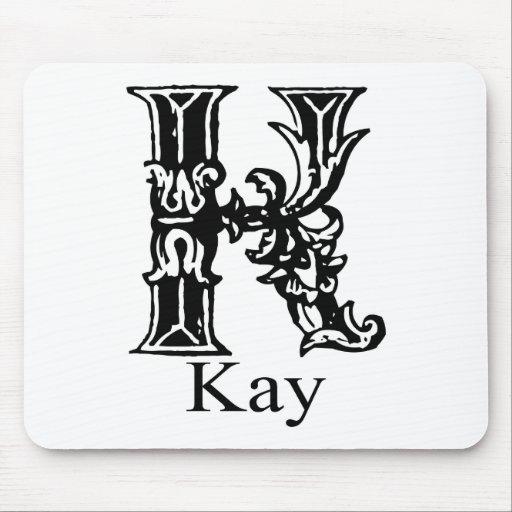 Monograma de lujo: Kay Alfombrillas De Ratón