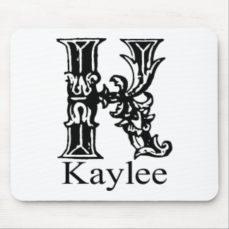 Monograma de lujo: Kaylee Alfombrillas De Raton