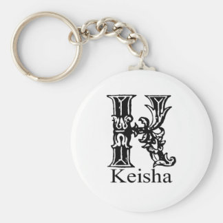 Monograma de lujo: Keisha Llavero Redondo Tipo Pin
