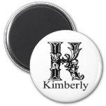 Monograma de lujo: Kimberly Imán De Frigorífico