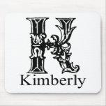 Monograma de lujo: Kimberly Tapete De Ratones