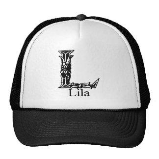 Monograma de lujo: Lila Gorro