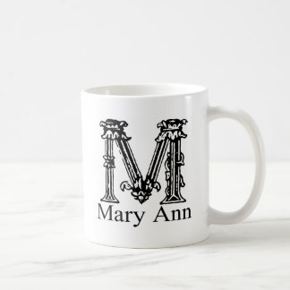 Monograma de lujo: Mary Ann Taza De Café