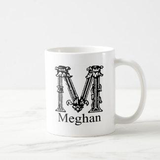Monograma de lujo: Meghan Taza Básica Blanca
