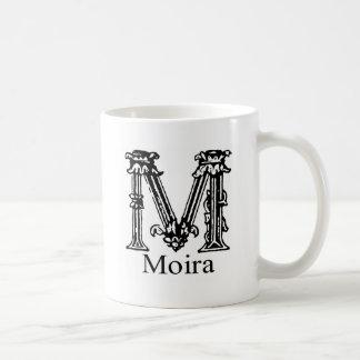 Monograma de lujo Moira Taza