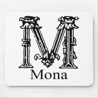 Monograma de lujo: Mona Alfombrilla De Ratones