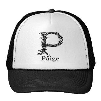 Monograma de lujo: Paige Gorras