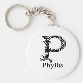 Monograma de lujo: Phyllis Llavero Redondo Tipo Pin
