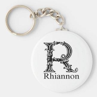 Monograma de lujo: Rhiannon Llaveros