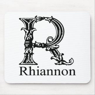 Monograma de lujo: Rhiannon Tapetes De Raton