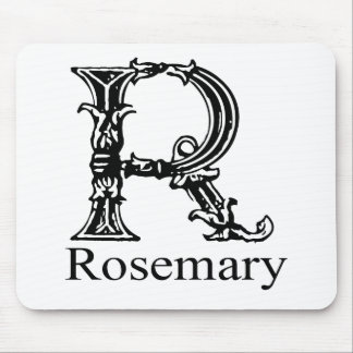 Monograma de lujo: Rosemary Tapetes De Ratón