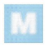 Monograma de M Impresiones En Lona Estiradas
