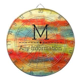 Monograma de madera abstracto colorido de la